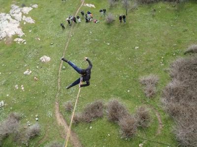 Bungee jumping in Sierra de Madrid, Taboada bridge