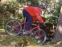 Mountain biking offroad action