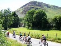 Mountain biking stunning scenery