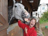 Having fun at Cavendish Bridge Equestrian Centre!