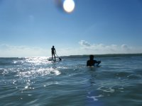 Surfing is lots of fun.