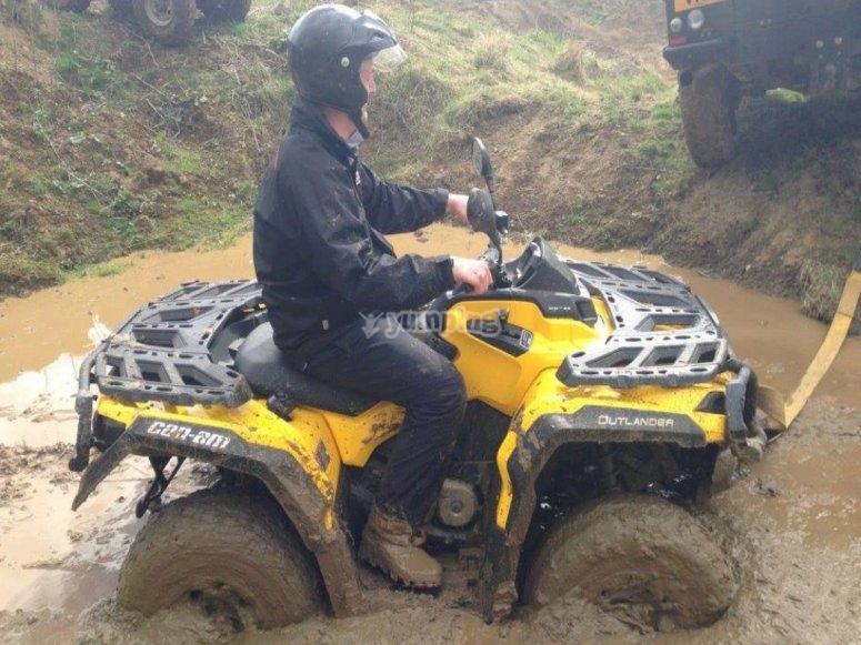 Muddy off-roads