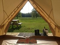 One of our Bell tents for camping
