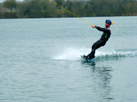 Flyboarding in the closed area