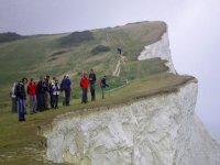 Adventuring along cliffs.