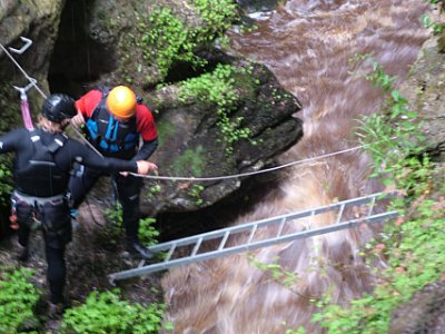How Stean Gorge Canyoning