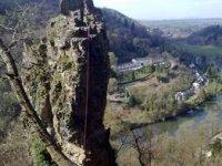 Climbing the Longstone Pinancle