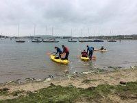 Doubles Kayaks on point