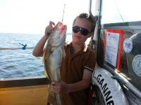 Catching fish is fun.