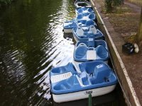 Pedalos are also available for hire.