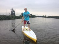 A relaxing day paddleboarding