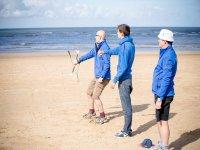 A kitesurfing lesson