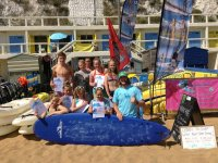 Our younger surfers with their certificates