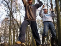 The thrills of our low ropes course