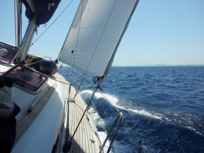 Sailing boat trip from Badalona Port, 3h