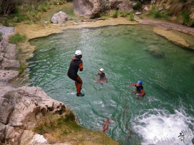 Beginners Canyoning in Lucena del Cid with photos