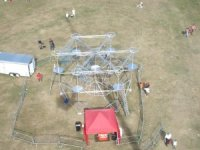 Overhead TV Camera view of High Ropes Course at British Grand Prix