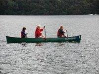 Paddling across Lake Windermere