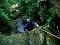Abseiling on man made and natural locations