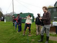 Clay pigeon shooting session