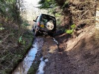 Driving in the mud