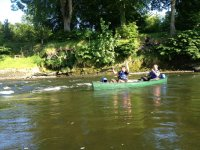 Enjoy a relaxing paddle on the river