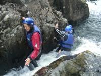 Navigating around the rocks