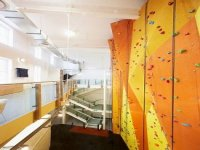 The length of our climbing walls