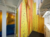 We have a dedicated bouldering area and climbing area
