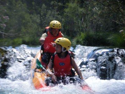 Kayak trip upper Tajo, rough waters 1 full day