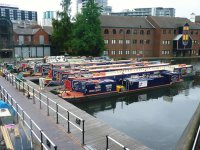 Our boats in Gas Street Basin