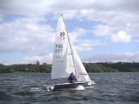 Sailing across Carsington Water