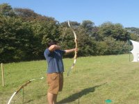 Archery in Apple Orchard.