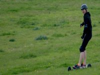 Mountain boarding on the Isle of Wight.