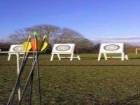 Our archery range set up