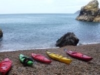 A variety of kayaks to try!
