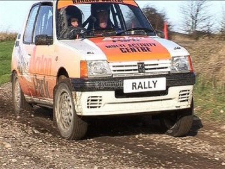 Rally driving with instructor
