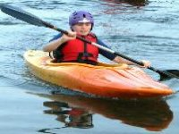 Kid kayaking