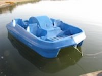 Paddle boating is lots of fun.