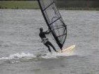 Windsurfing is fun to learn.