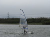 Windsurfing in Sheffield.