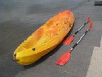 Canoeing is fun.