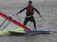 Windsurfing is lots of fun.