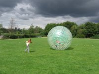 Zorbing is a great activity.