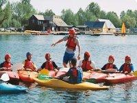 Kayaking balancing