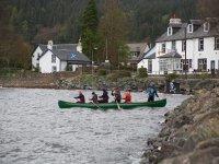 Paddling a canoe in Loch Goil