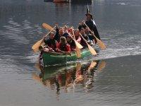Full boat paddling
