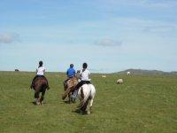 Traffic-free moorland riding at Hallagenna