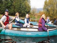 Canoeing is lots of fun.