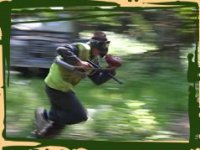 Flying paintball